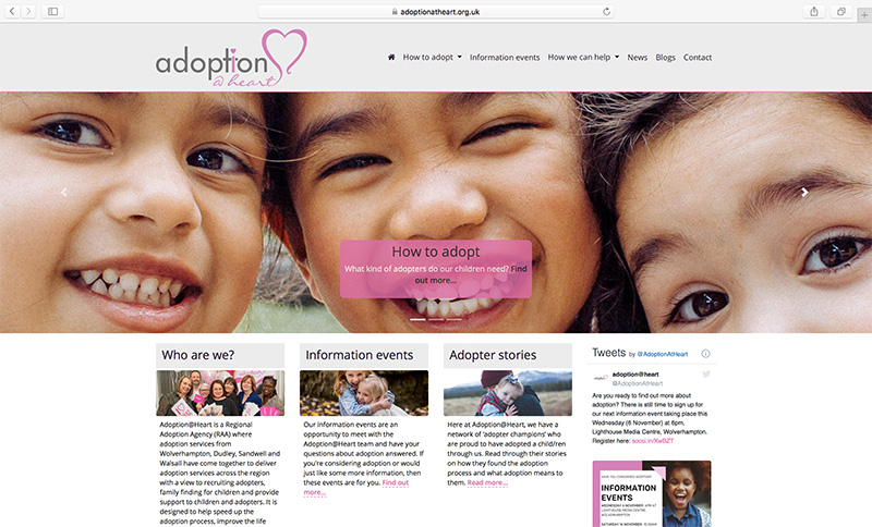Adoption Agency launches new and improved website
